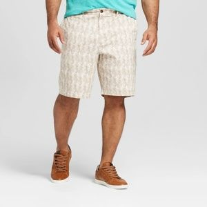 Ivory Pineapple Mens Flat Front Linden Shorts